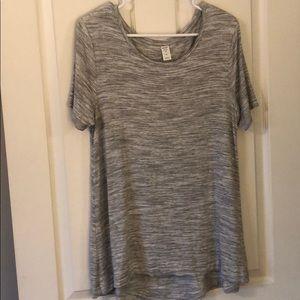Gray swing shirt